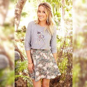 NWOT Lauren Conrad Disney Bambi meadow skirt